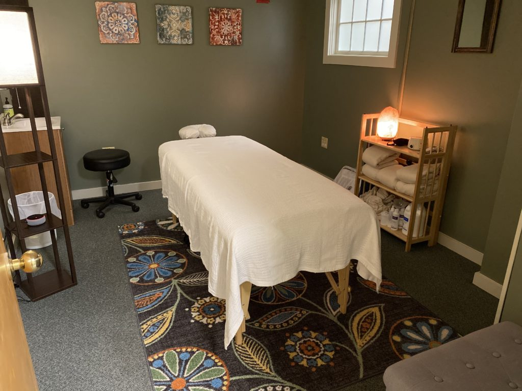 Photo of massage therapy room
