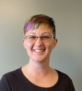 Photo of person with colorful hair